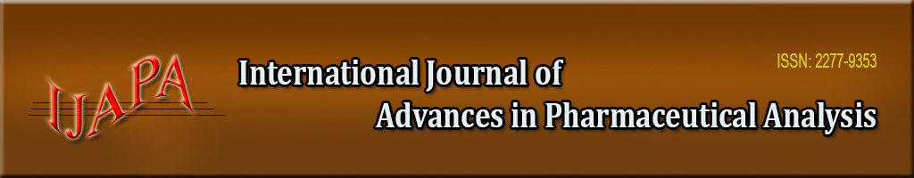 International Journal of Advances in Pharmaceutical Analysis